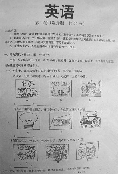 2008年山东省临沂市中考英语试题及答案