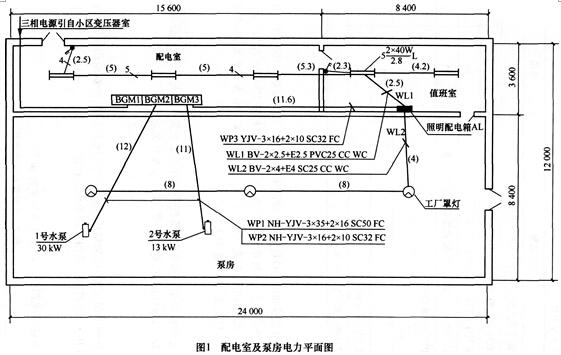 考试照明电路接线图