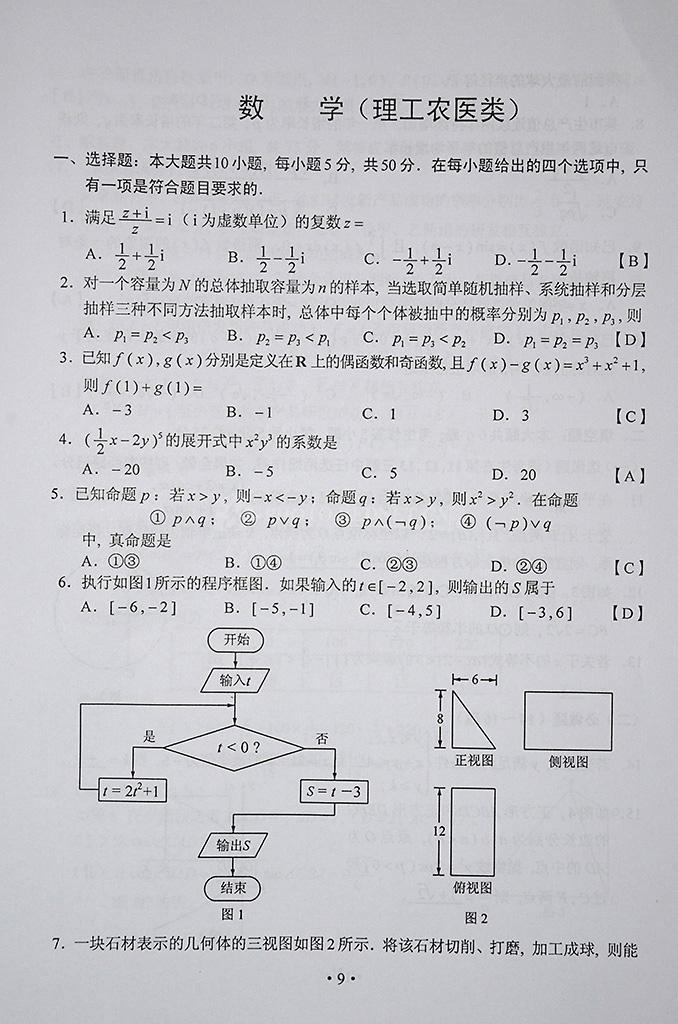 2014年湖南参考小学(数学)初中高考试题233网万户对应答案理科图片