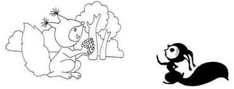 一年级下册随堂练习《小松鼠和松果》