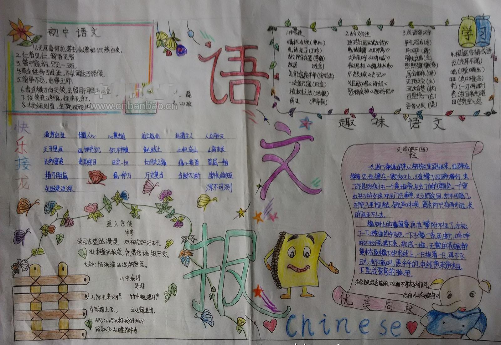 小学生精美的语文手抄报图片