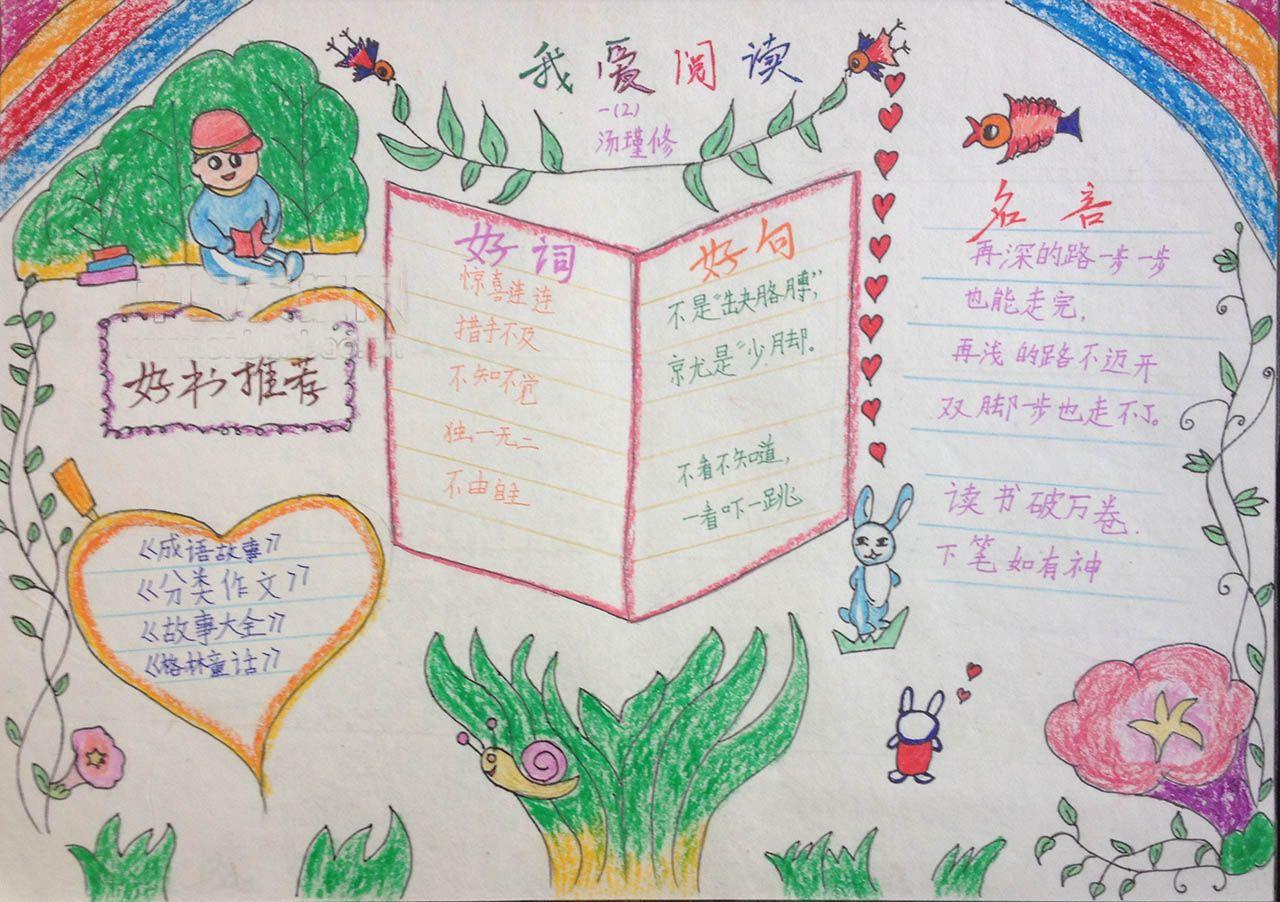 小学生让快乐与语文同行手抄报图片