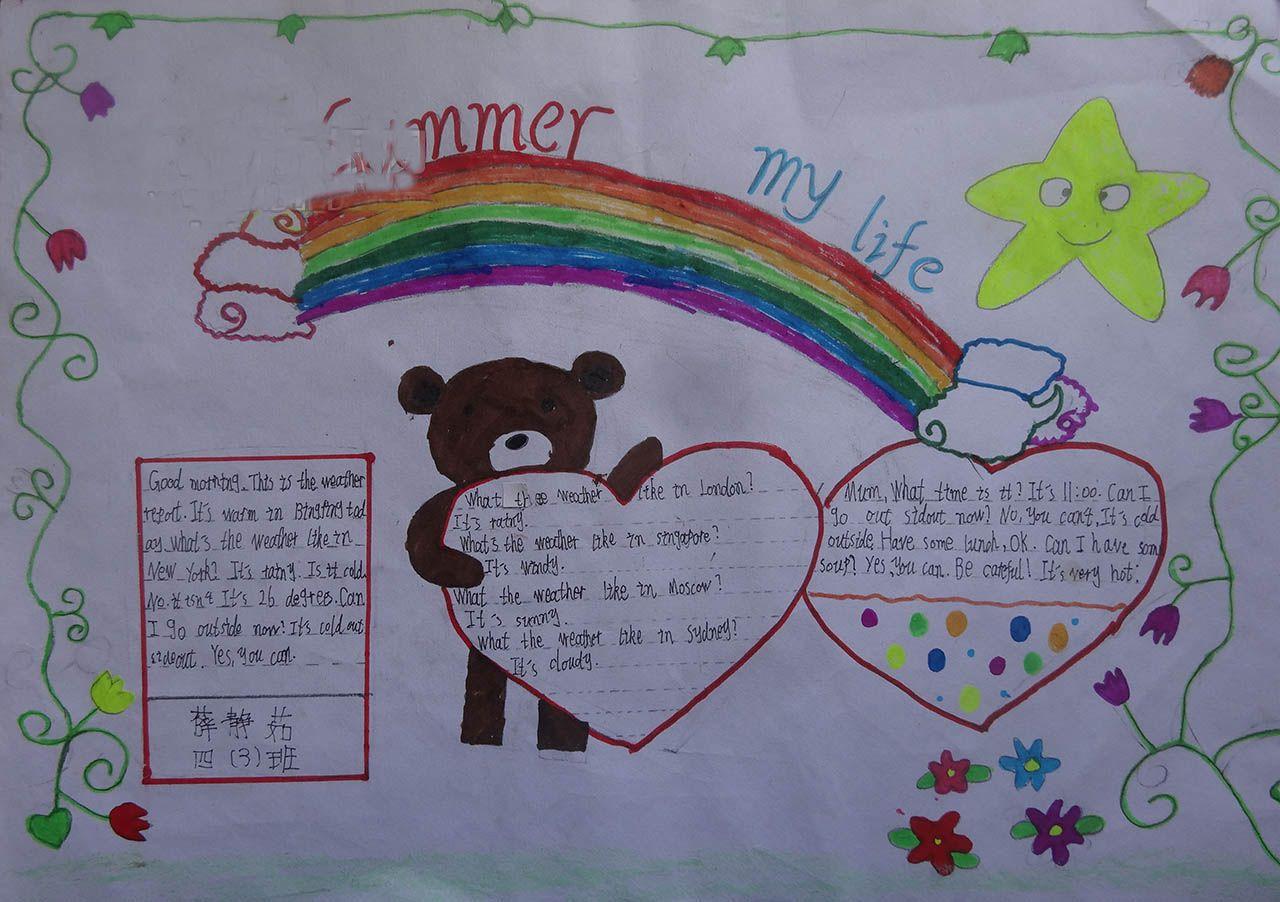 小学生有关weather的英语手抄报
