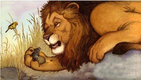 小学六年级英语阅读材料:狮子和老鼠