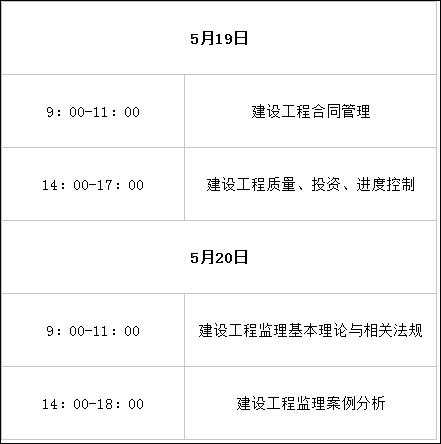 2018年贵州监理工程师考试时间及科目安排.png