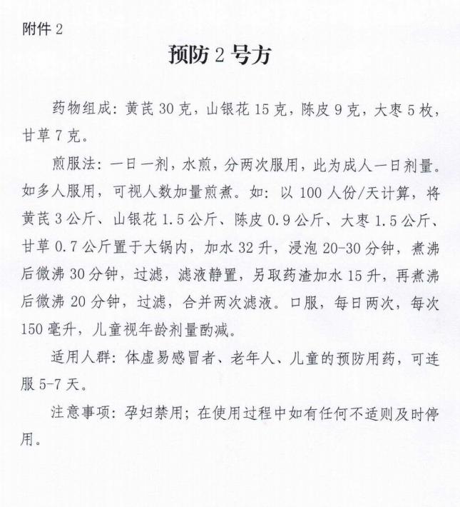 湖南省中医药管理局发布:中药预防新型冠状病毒感染的通知!