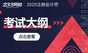 2020年注册会计师考试大纲已发布!