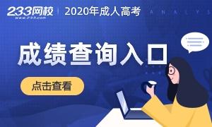 2020年成人高考成绩查询时间/入口